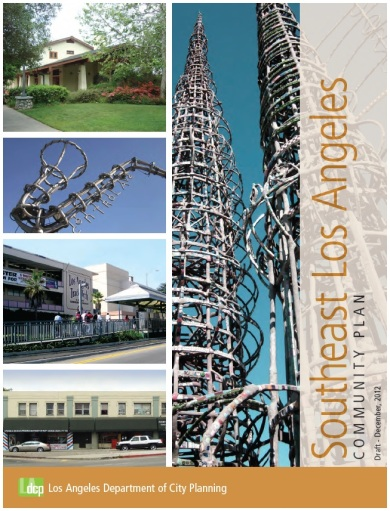 The cover of the Southeast LA Draft Community Plan, available at this link.