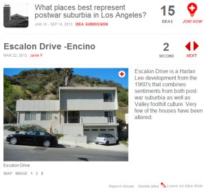 Jaime P's entry for Escalon Drive in Encino.