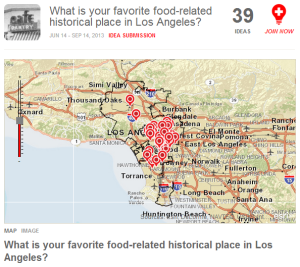 "The ""What is your favorite food-related historical place in Los Angeles?"" question."