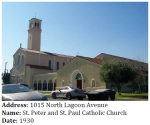 This church displays large-scale Spanish Colonial Revival architecture.