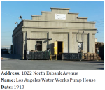 This LA Department of Water and Power Pump house dates back over a century.
