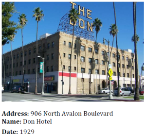 The Don Hotel was one of several Wilmington hotels that were popular stopovers for travelers to and from Catalina.