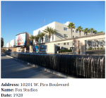 """Fox Studios was one of the """"Big Eight"""" movie studios in Los Angeles and was specifically designed with sound stages for then cutting-edge """"talkie"""" movies. It helped draw people to West Los Angeles, and by retaining large parcels undeveloped for decades, paved the way for the development of Century City."""