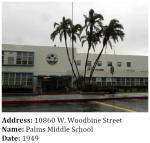 This Middle School is a great example of Late Moderne architecture.