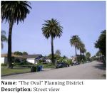 We got a tip on this from MyHistoricLA.org! The Oval or Palm Place developed in fits over several decades. It has a street plan by Wilbur David Cook Jr. who also did an early design for Exposition Park.