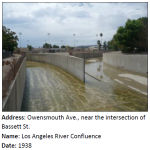 The Los Angeles River, so pivotal to the history of the City, begins its 51 mile trek to the sea here at the confluence of  the Calabasas and Bell Creeks. Channelization helped the area to grow by reducing the risk of flood.