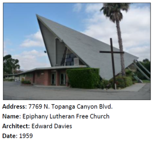 A Mid-Century Modern church in Canoga Park.