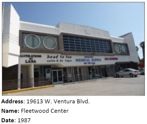 The Fleetwood Center is such a great example of Programmatic architecture that SurveyLA documented it even though it's post-1980!