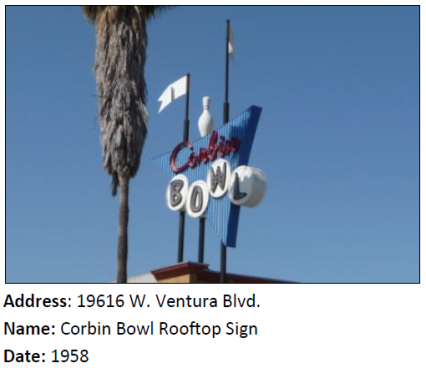 This Googie-style sign has outlived its bowling alley.